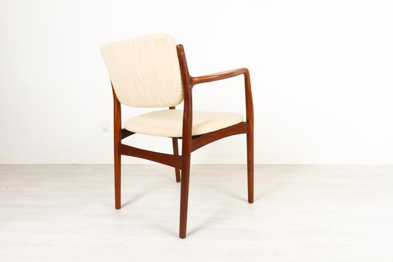 Mid-20th Century Vintage Danish Teak Armchair, 1950s For Sale
