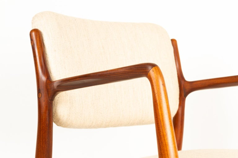 Mid-20th Century Vintage Danish Teak Armchair 1950s For Sale
