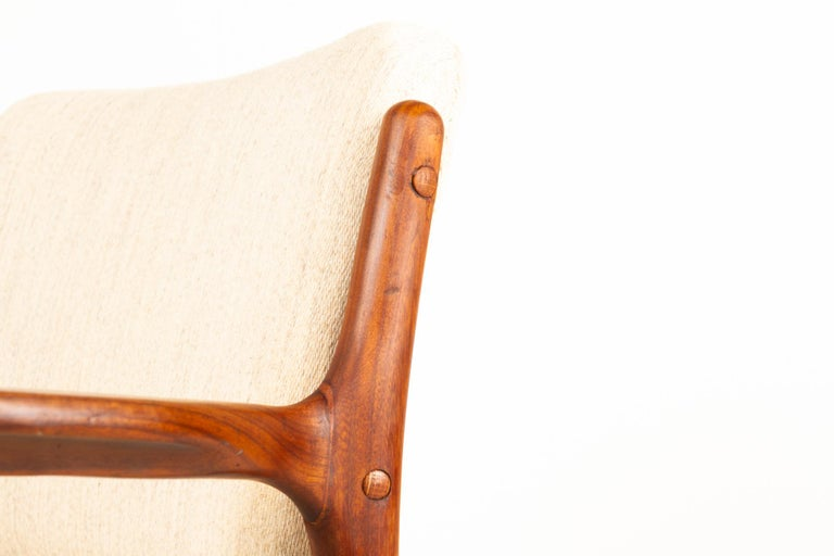 Vintage Danish Teak Armchair 1950s For Sale 3