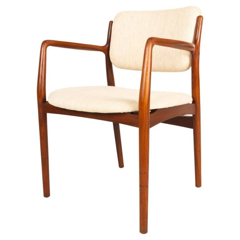 Vintage Danish Teak Armchair, 1950s For Sale