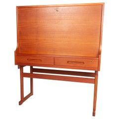Vintage Danish Teak Bar Cabinet, 1960s