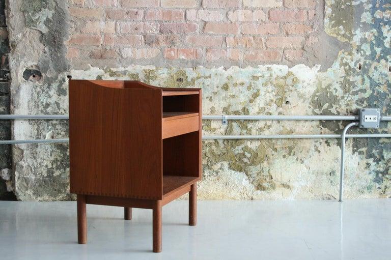 Scandinavian Modern Vintage Danish Teak Bedside Table by Peter Hvidt & Orla Molgaard Nielson For Sale