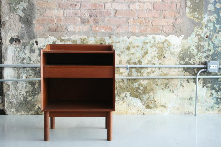 20th Century Vintage Danish Teak Bedside Table by Peter Hvidt & Orla Molgaard Nielson For Sale