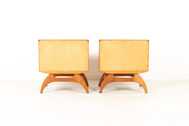 Vintage Danish Teak Bedside Tables 1960s, Set of 2 9