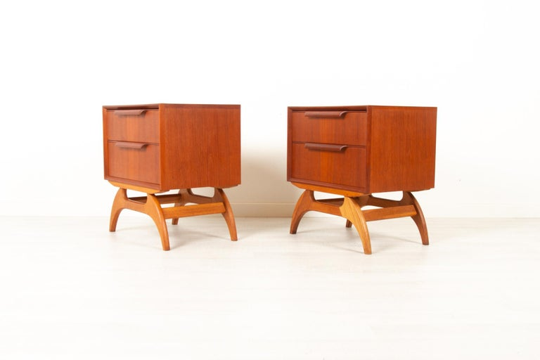 Vintage Danish Teak Bedside Tables 1960s, Set of 2 In Good Condition In Nibe, Nordjylland