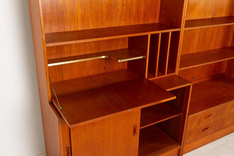 Vintage Danish Teak Bookcase by Clausen & Søn, 1960s For Sale 5