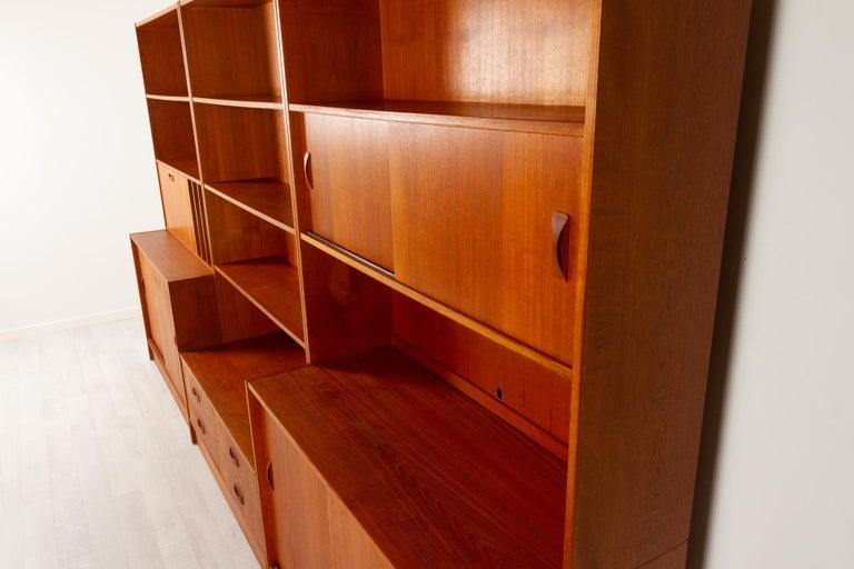Vintage Danish Teak Bookcase by Clausen & Søn, 1960s For Sale 6