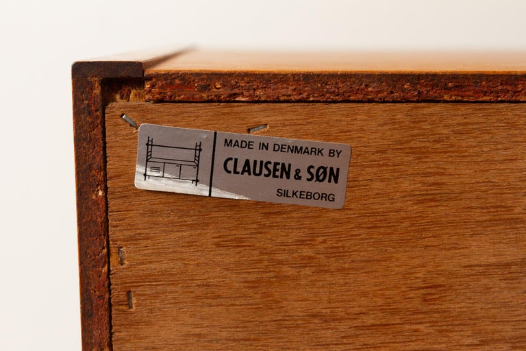 Vintage Danish Teak Bookcase by Clausen & Søn, 1960s For Sale 15
