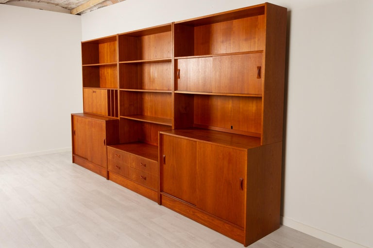 Vintage Danish Teak Bookcase by Clausen & Søn, 1960s In Good Condition For Sale In Nibe, Nordjylland