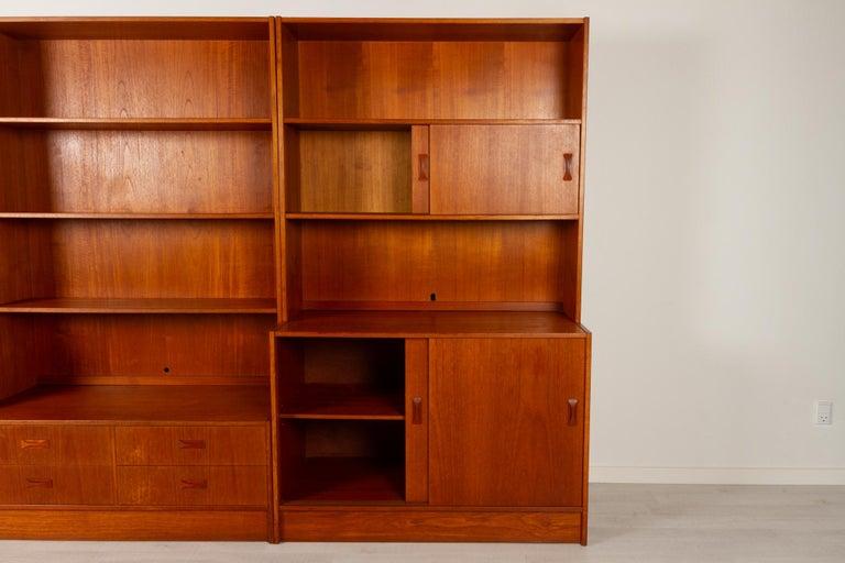 Vintage Danish Teak Bookcase by Clausen & Søn, 1960s For Sale 1