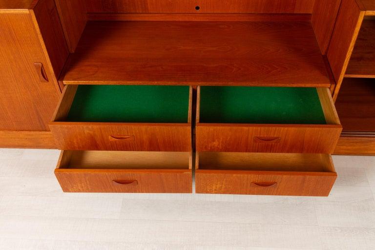 Vintage Danish Teak Bookcase by Clausen & Søn, 1960s For Sale 3