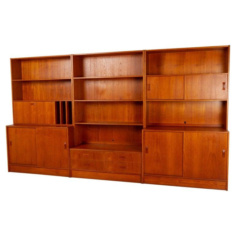 Vintage Danish Teak Bookcase by Clausen & Søn, 1960s For Sale