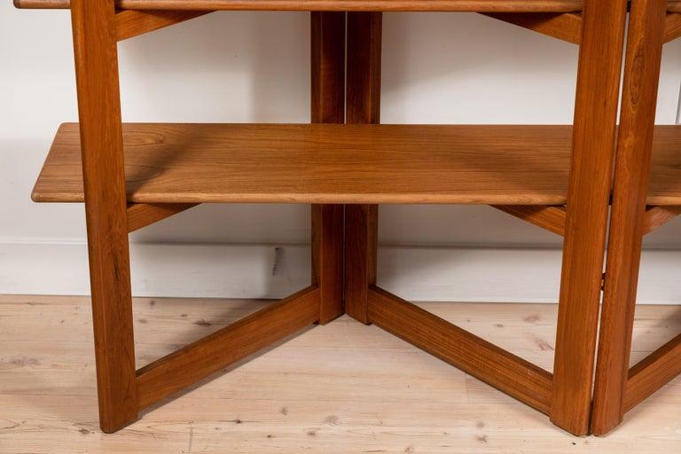 Mid-Century Modern Vintage Danish Teak Bookshelf For Sale