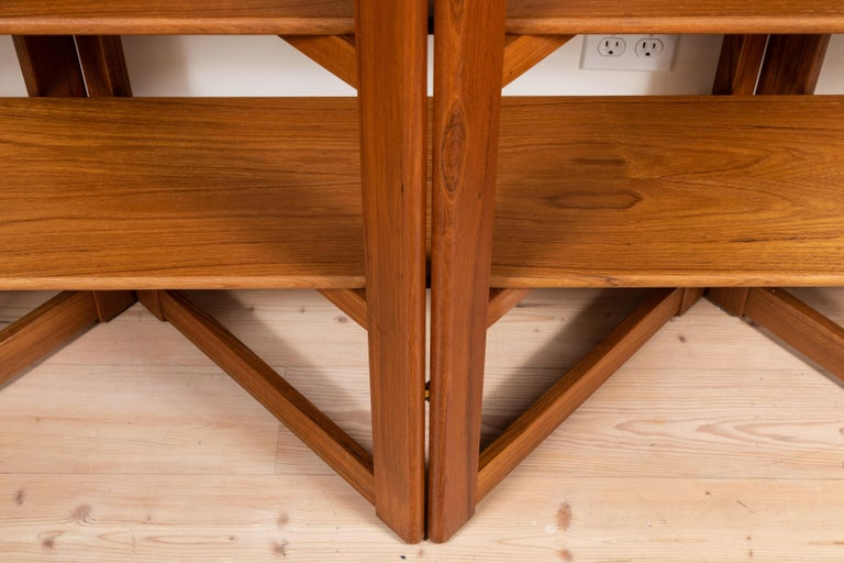 Vintage Danish Teak Bookshelf For Sale 2