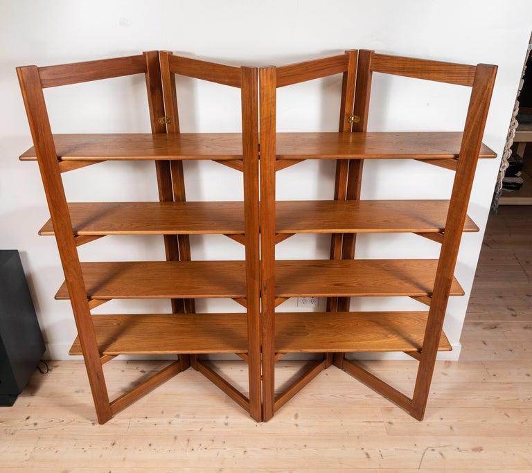 Vintage Danish Teak Bookshelf For Sale 4