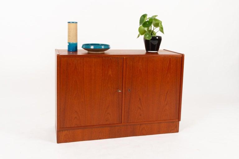 Mid-20th Century Vintage Danish Teak Cabinet 1960s For Sale