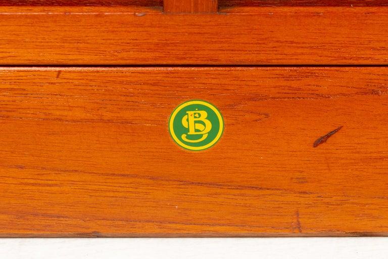 Vintage Danish Teak Cabinet with Tambour Doors, 1960s For Sale 13