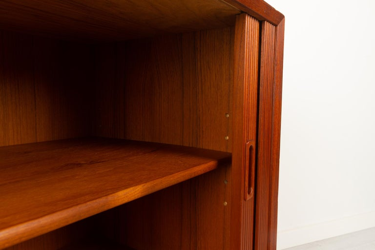 Vintage Danish Teak Cabinet with Tambour Doors by Lyby Møbler, 1960s For Sale 2