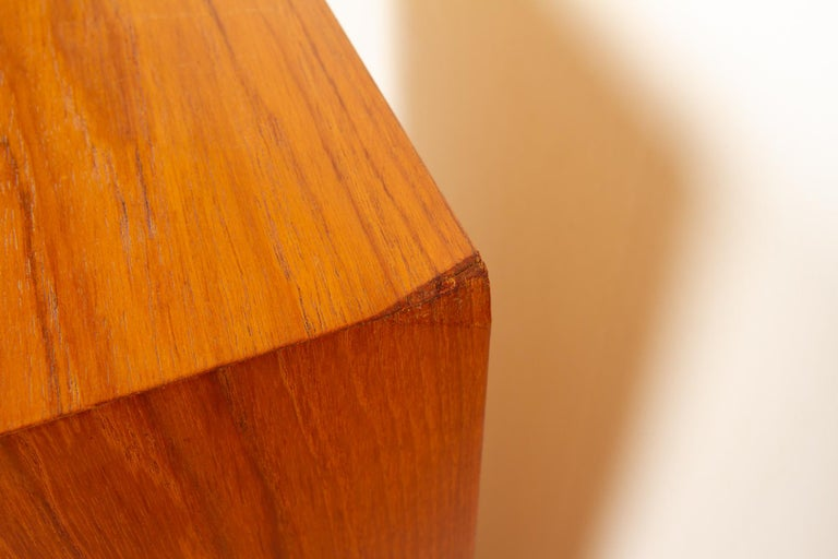 Vintage Danish Teak Cabinet with Tambour Front, 1960s For Sale 13