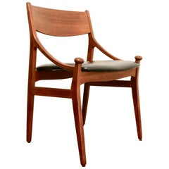 Vintage Danish Teak Chair by Vestervig Eriksen for Brdr, Tromborg, 1960s