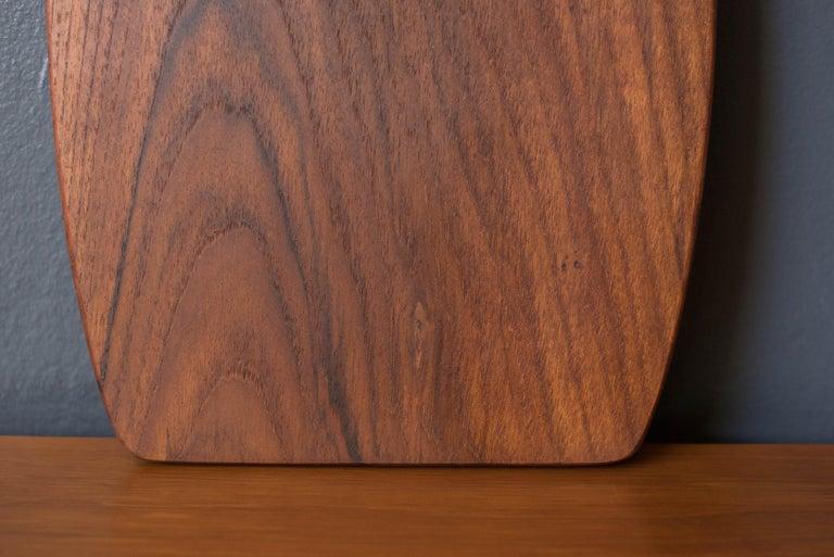 Scandinavian Modern Vintage Danish Teak Charcuterie Serving Tray Board For Sale