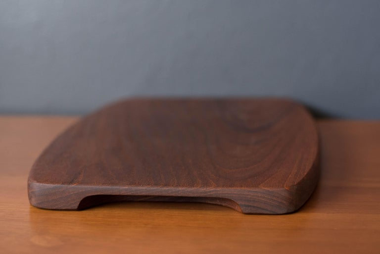 Mid-20th Century Vintage Danish Teak Charcuterie Serving Tray Board For Sale