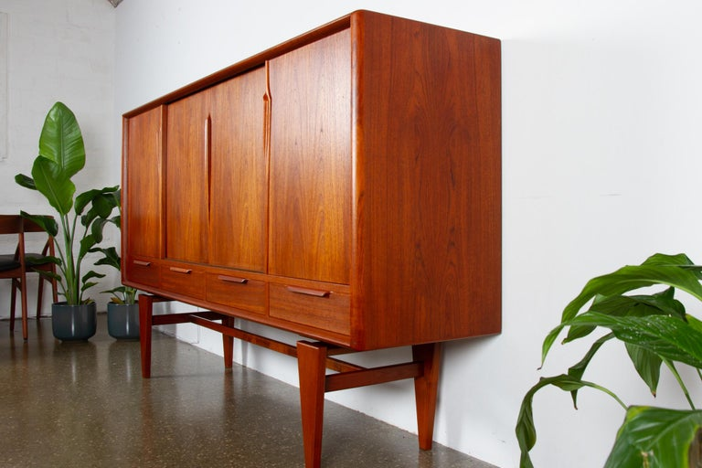Vintage Danish Teak Credenza by ACO, 1960s For Sale 6