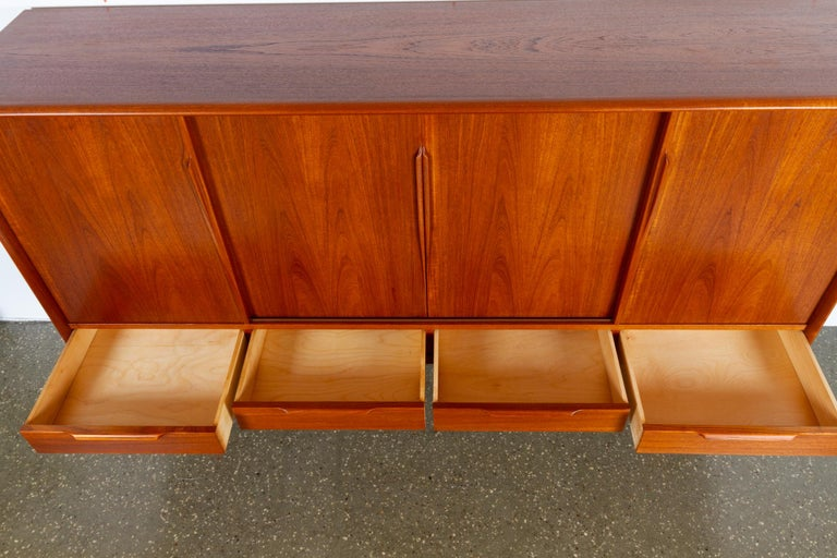 Vintage Danish Teak Credenza by ACO, 1960s For Sale 8