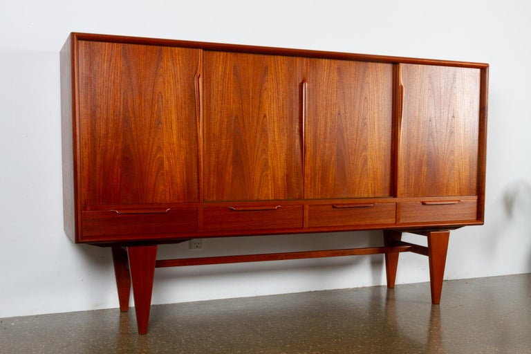 Vintage Danish teak credenza by ACO 1960s.