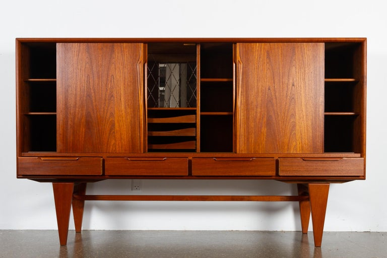 Vintage Danish Teak Credenza by ACO, 1960s In Good Condition For Sale In Nibe, Nordjylland
