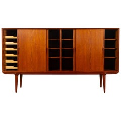 Vintage Danish Teak Credenza by Omann Jun, 1960s