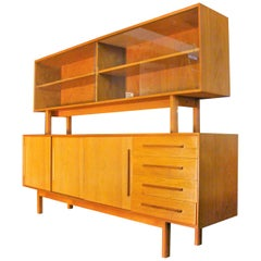 Vintage Danish Teak Credenza/Sideboard with Hutch, circa 1969