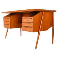 Vintage Danish Teak Desk by Tibergaard, 1960s