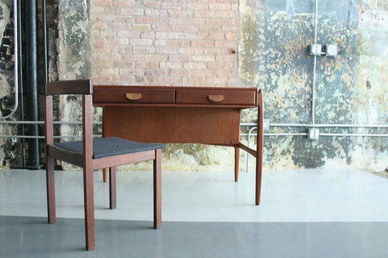 Scandinavian Modern Vintage Danish Teak Desk with chair by Svend Madsen For Sale