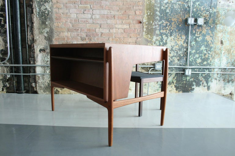 20th Century Vintage Danish Teak Desk with chair by Svend Madsen For Sale