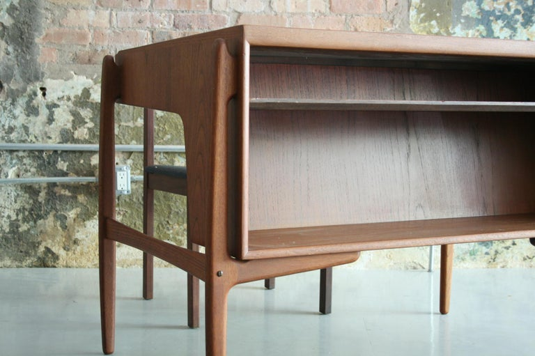 Vintage Danish Teak Desk with chair by Svend Madsen For Sale 2