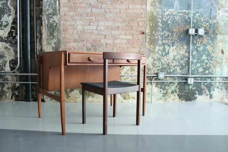 Vintage Danish Teak Desk with chair by Svend Madsen For Sale 3