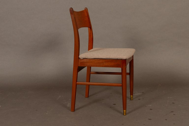 Vintage Danish Teak Dining Chairs 1950s Set of 4 For Sale 5