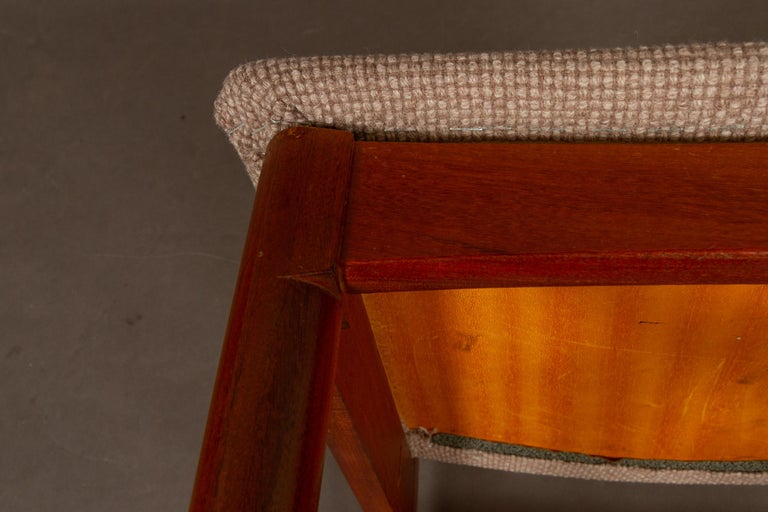 Vintage Danish Teak Dining Chairs 1950s Set of 4 For Sale 8
