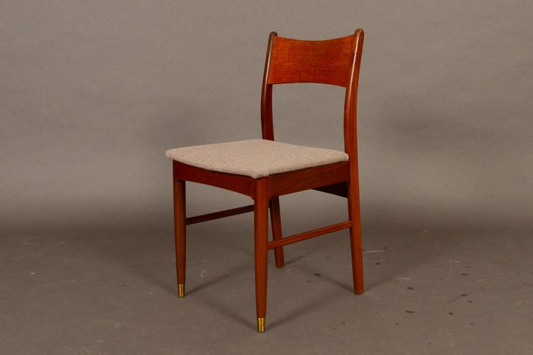 Vintage Danish Teak Dining Chairs 1950s Set of 4 In Good Condition For Sale In Nibe, Nordjylland