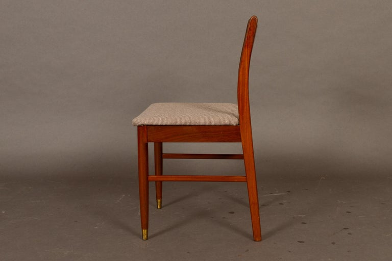 Mid-20th Century Vintage Danish Teak Dining Chairs 1950s Set of 4 For Sale