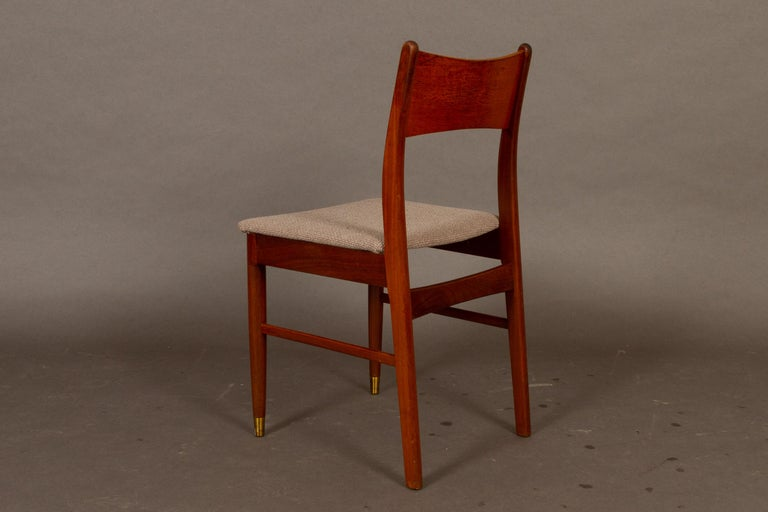 Vintage Danish Teak Dining Chairs 1950s Set of 4 For Sale 1