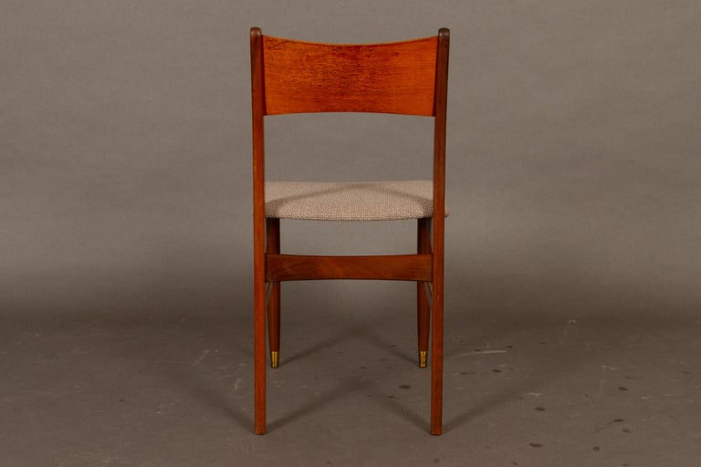 Vintage Danish Teak Dining Chairs 1950s Set of 4 For Sale 2