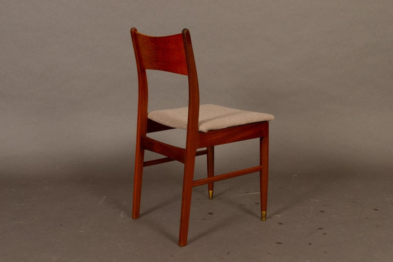 Vintage Danish Teak Dining Chairs 1950s Set of 4 For Sale 3