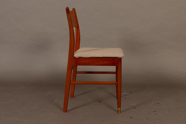 Vintage Danish Teak Dining Chairs 1950s Set of 4 For Sale 4