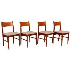 Vintage Danish Teak Dining Chairs 1950s Set of 4