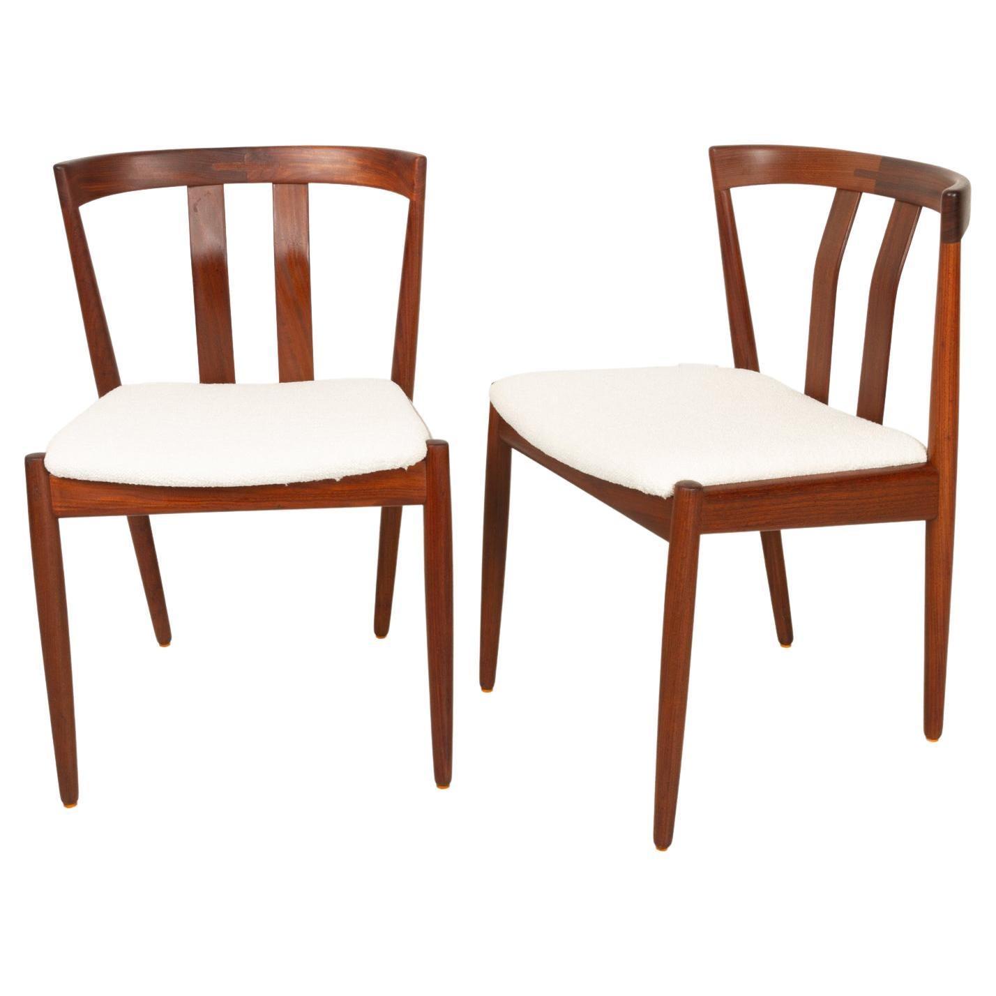 Vintage Danish Teak Dining Chairs 1960s, Set of 2