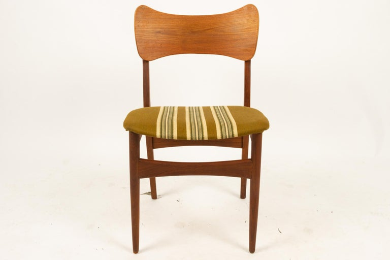 Vintage Danish Teak Dining Chairs 1960s Set of 4 For Sale 8