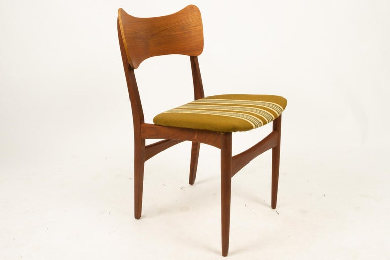 Vintage Danish Teak Dining Chairs 1960s Set of 4 For Sale 11