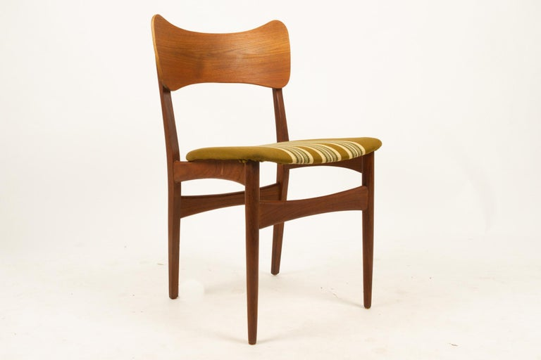 Vintage Danish Teak Dining Chairs 1960s Set of 4 For Sale 12